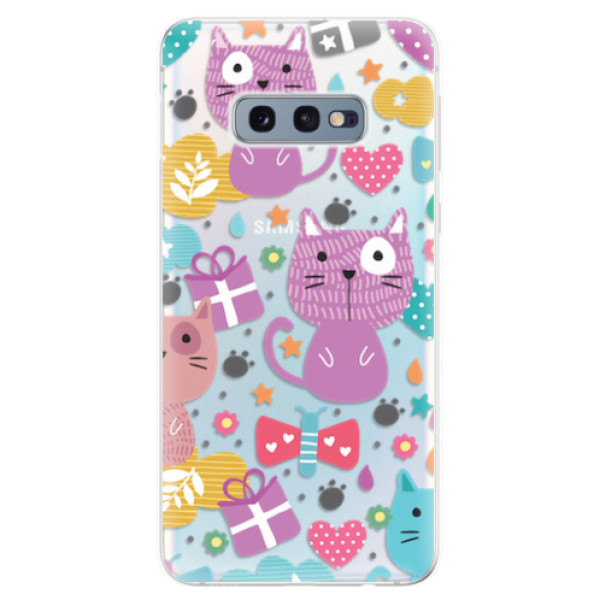 Odolné silikonové pouzdro iSaprio - Cat pattern 01 - Samsung Galaxy S10e
