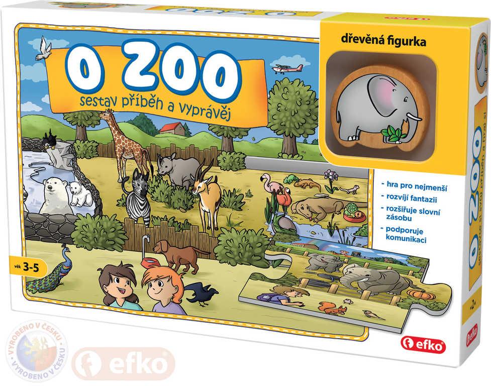 EFKO Baby Hra O ZOO puzzle vyprávěcí Skládej a vyprávěj příběhy