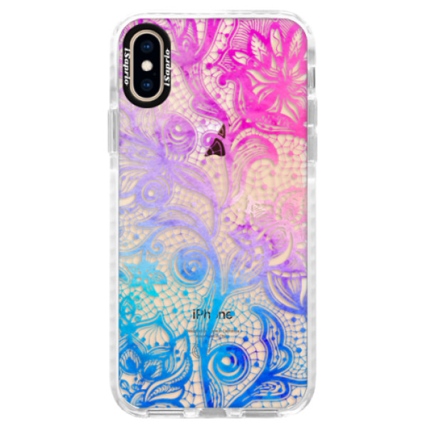 Silikonové pouzdro Bumper iSaprio - Color Lace - iPhone XS