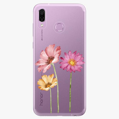 Silikonové pouzdro iSaprio - Three Flowers - Huawei Honor Play
