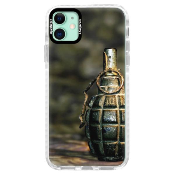 Silikonové pouzdro Bumper iSaprio - Grenade - iPhone 11