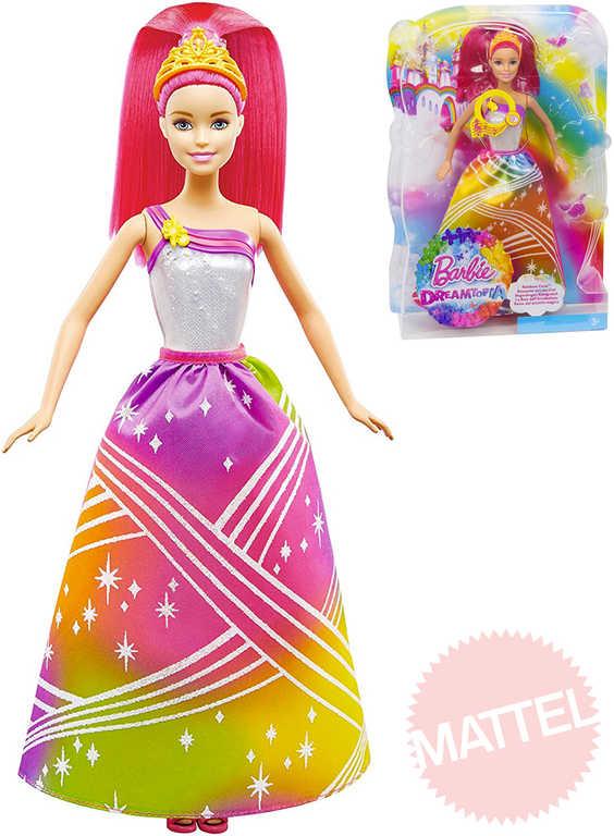 MATTEL BRB Panenka Barbie princezna duhová na baterie Světlo Zvuk