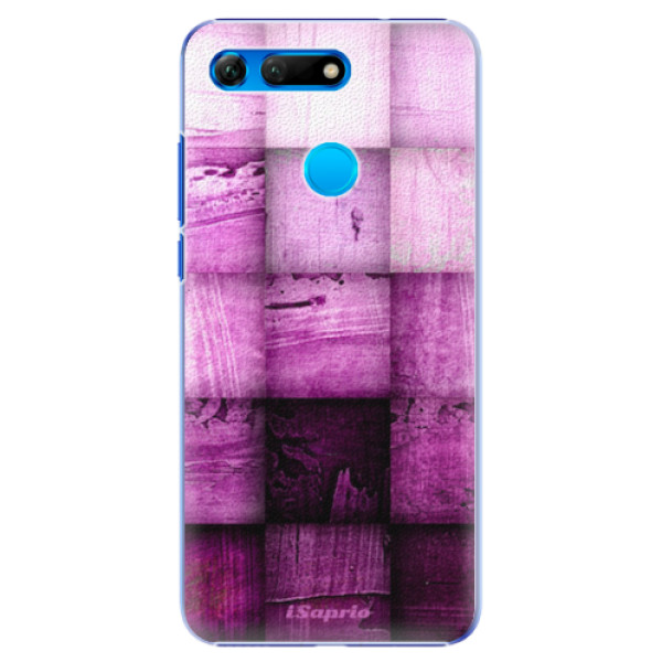 Plastové pouzdro iSaprio - Purple Squares - Huawei Honor View 20