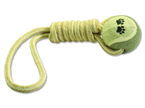 Přetahovadlo DOG FANTASY Juta tenisák házecí 34 cm