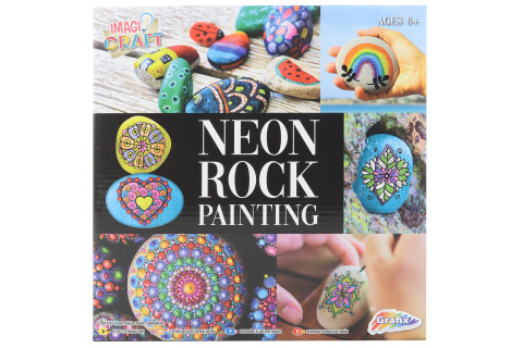 Malování kamínků neon