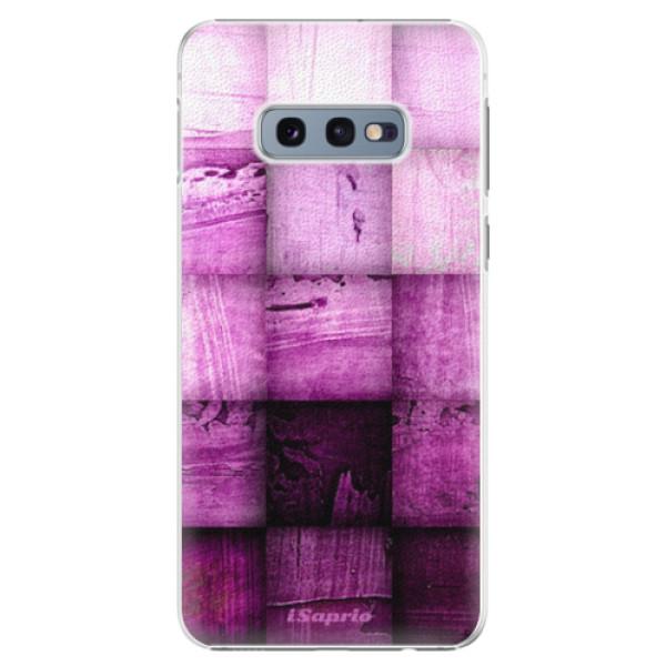 Plastové pouzdro iSaprio - Purple Squares - Samsung Galaxy S10e