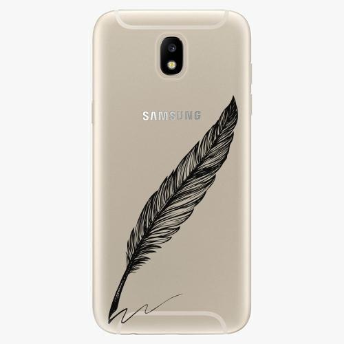 Silikonové pouzdro iSaprio - Writing By Feather - black - Samsung Galaxy J5 2017