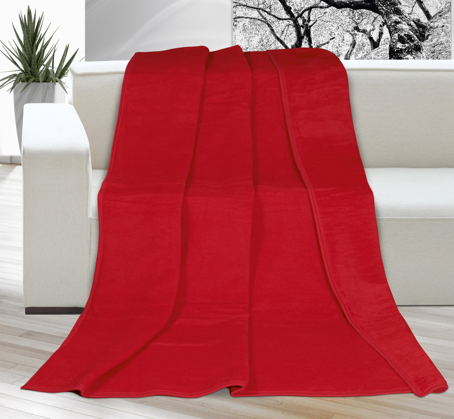 Deka Kira PLUS jednolůžko 150x200cm červená