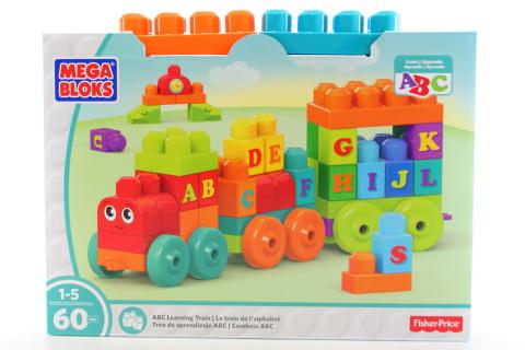 Mega Bloks Vláček s písmenky DXH35