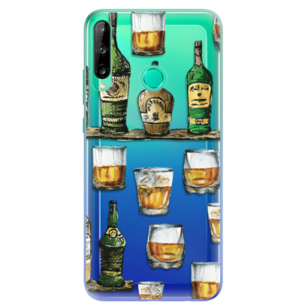 Odolné silikonové pouzdro iSaprio - Whisky pattern - Huawei P40 Lite E