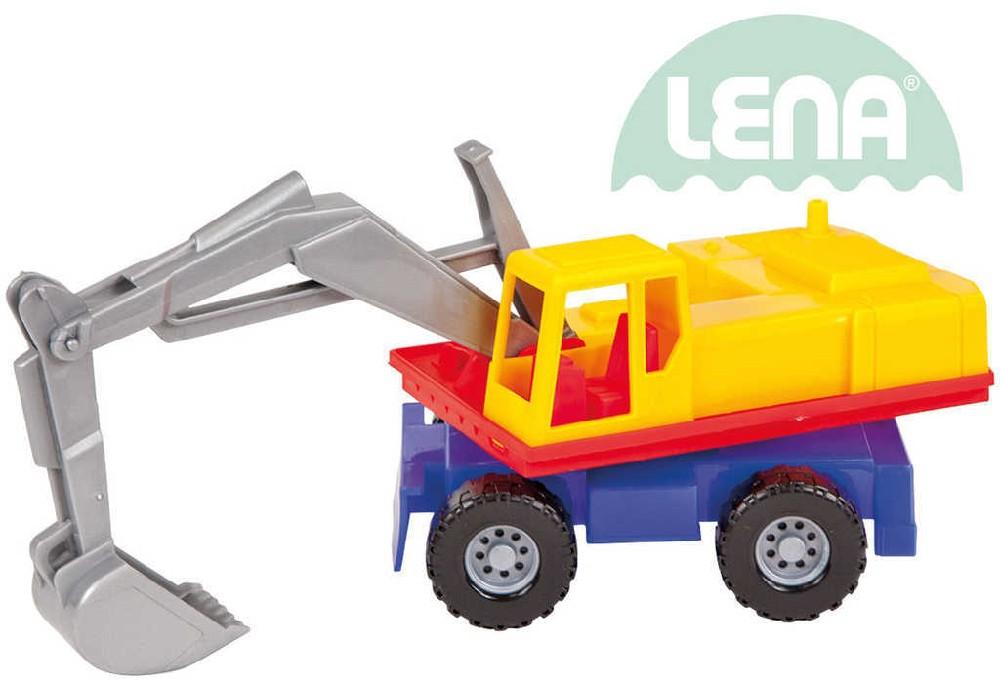 LENA Auto funkční bagr plastový 27cm