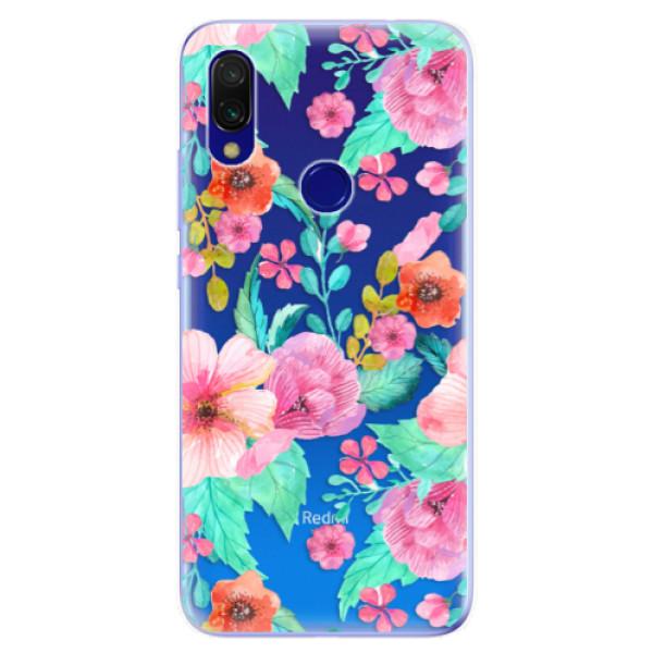 Odolné silikonové pouzdro iSaprio - Flower Pattern 01 - Xiaomi Redmi 7