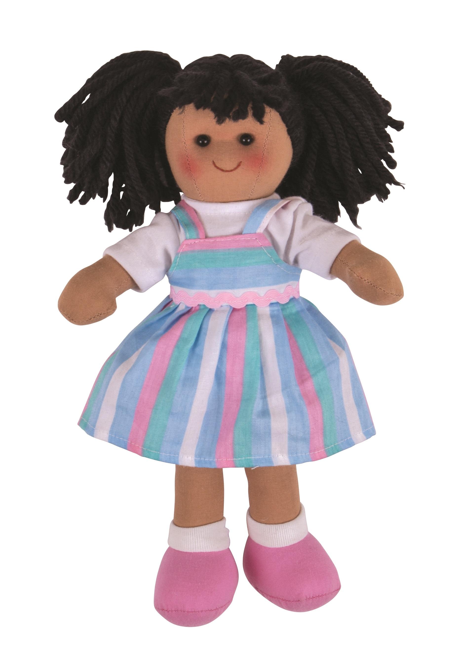 Bigjigs Toys Látková panenka Kira 28 cm