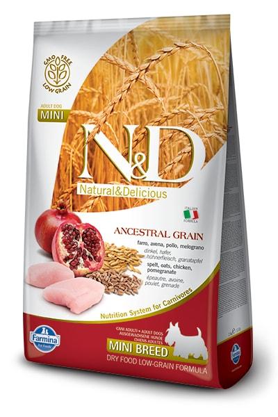 N&D LG DOG Adult Mini Chicken & Pomegranate 2,5kg