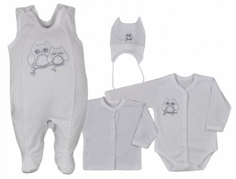 koala-baby-4-dilna-bavlnena-soupravicka-do-porodnice-sovicka-bila-vel-68-68-4-6m