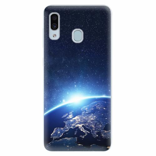 Silikonové pouzdro iSaprio - Earth at Night - Samsung Galaxy A30