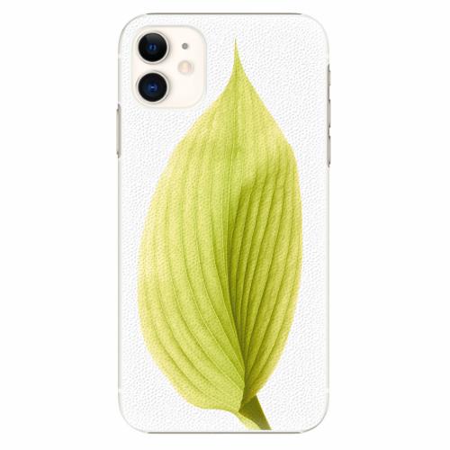Plastový kryt iSaprio - Green Leaf - iPhone 11