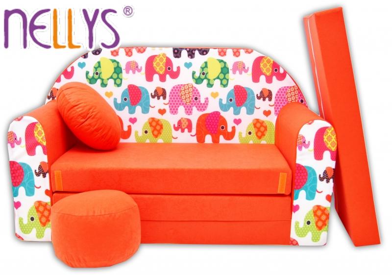 rozkladaci-detska-pohovka-nellys-67r-veseli-sloni-oranzovi