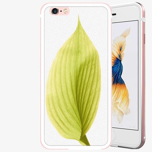 Plastový kryt iSaprio - Green Leaf - iPhone 6 Plus/6S Plus - Rose Gold