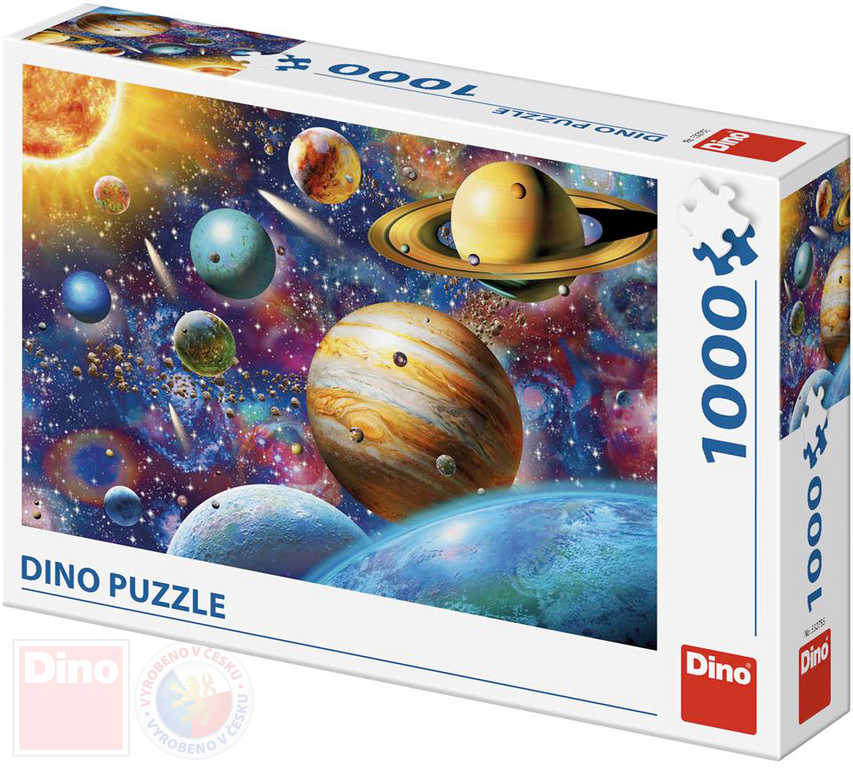 DINO Puzzle Planety XL 66x47cm skládačka 1000 dílků