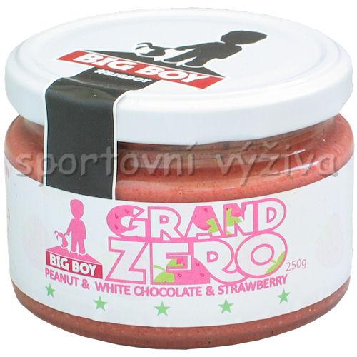 Grand zero arašídový krém speciál 250g-s-jahodami-a-bilou-cokoladou