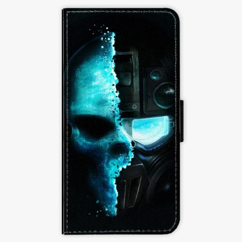Flipové pouzdro iSaprio - Roboskull - iPhone 6 Plus/6S Plus