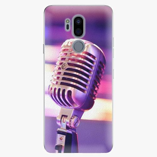 Plastový kryt iSaprio - Vintage Microphone - LG G7