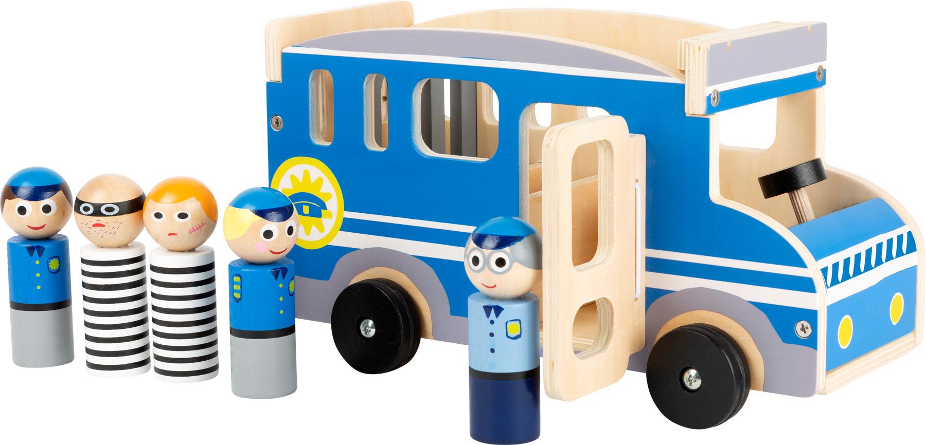 Small Foot Dřevěné vězeňské auto XL