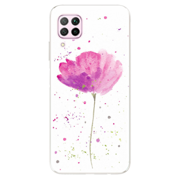 Odolné silikonové pouzdro iSaprio - Poppies - Huawei P40 Lite