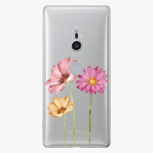 Plastový kryt iSaprio - Three Flowers - Sony Xperia XZ2