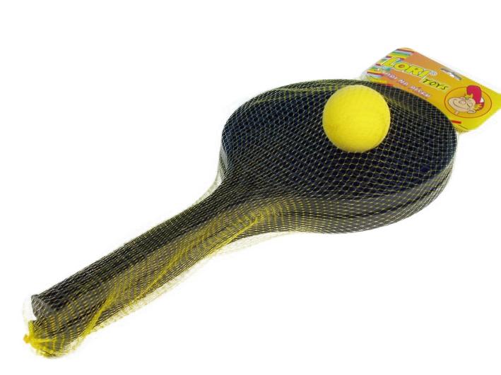 Soft tenis černý + 1 míček