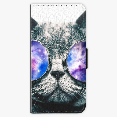 Flipové pouzdro iSaprio - Galaxy Cat - Sony Xperia XA