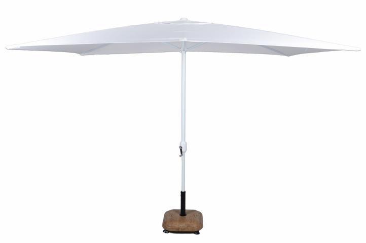Slunečník obdélníkový 2x3 m - bílá