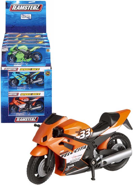 Teamsterz motocykl kovový v krabici - 6 barev