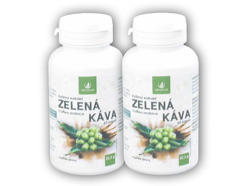 2x Zelená káva bylinný extrakt 60 kapslí
