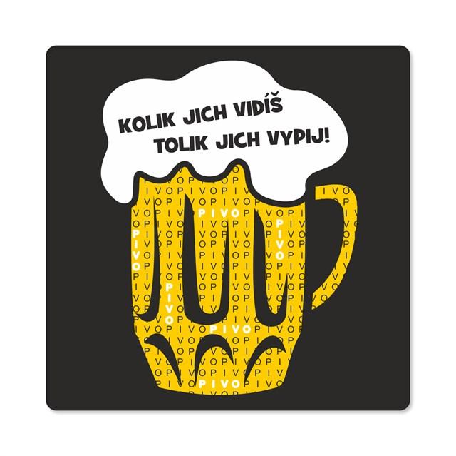 - Pánské humorné tričko - Počet piv, vel. XL