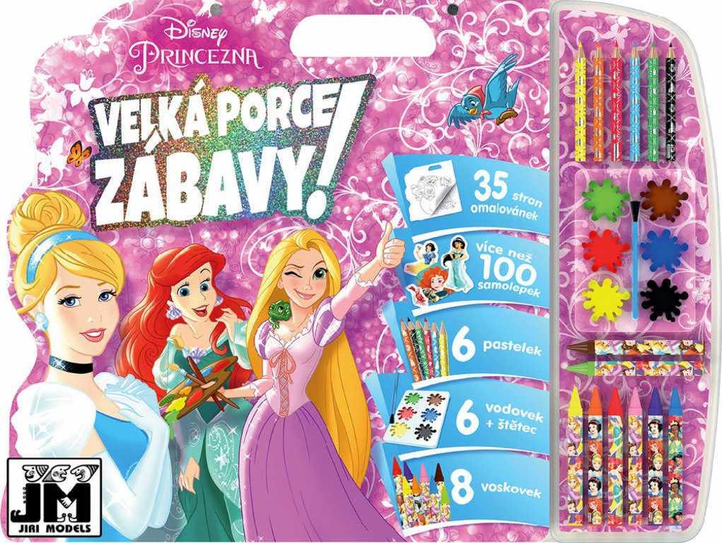 JIRI MODELS Mega omalovánkový set se samolepkami Disney Princezny