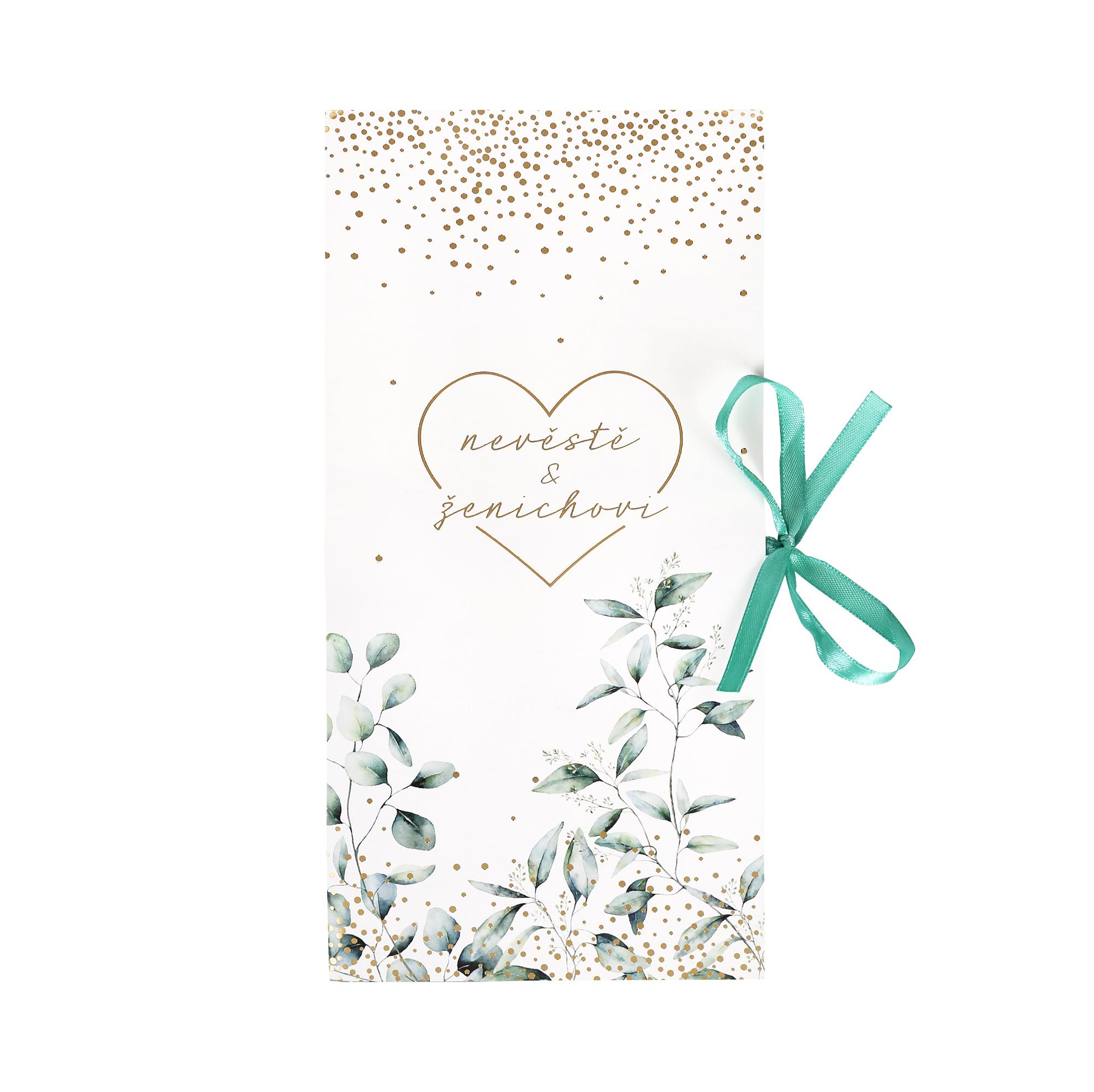 Svatební dárková krabička - Listy