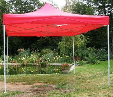 Zahradní  párty přístřešek CLASSIC nůžkový - 3 x 3 m červený