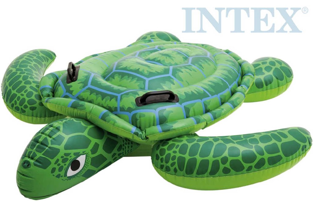 INTEX Želva nafukovací s úchyty 150x127cm dětské vozítko do vody 57524