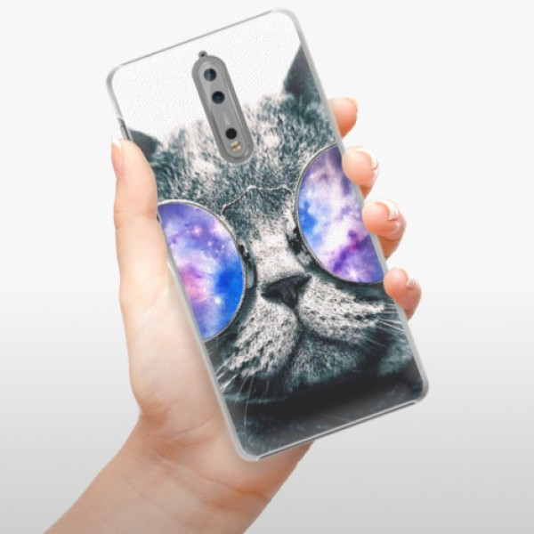 Plastové pouzdro iSaprio - Galaxy Cat - Nokia 8