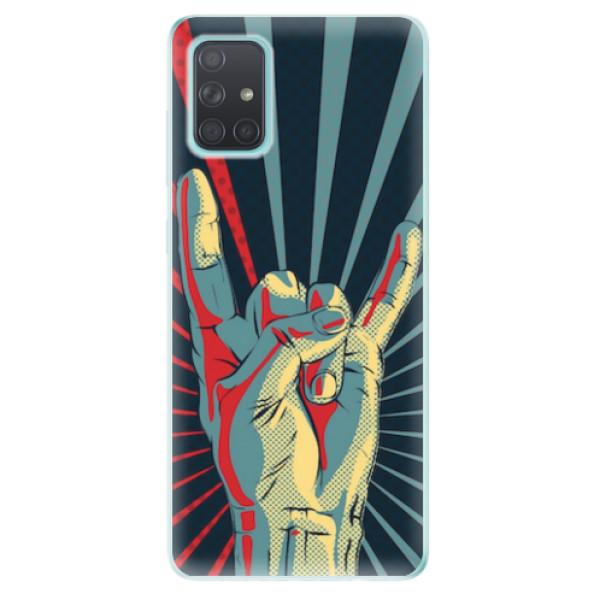 Odolné silikonové pouzdro iSaprio - Rock - Samsung Galaxy A71