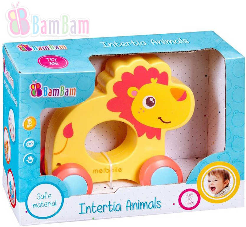 ET BAM BAM Baby Lev zvířátko na setrvačník na kolečkách