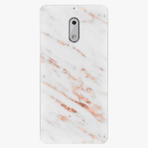 Plastový kryt iSaprio - Rose Gold Marble - Nokia 6