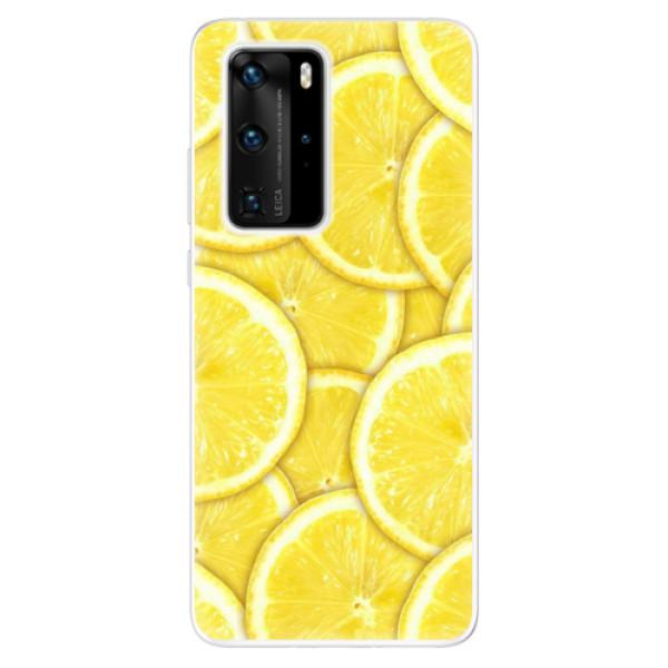 Odolné silikonové pouzdro iSaprio - Yellow - Huawei P40 Pro