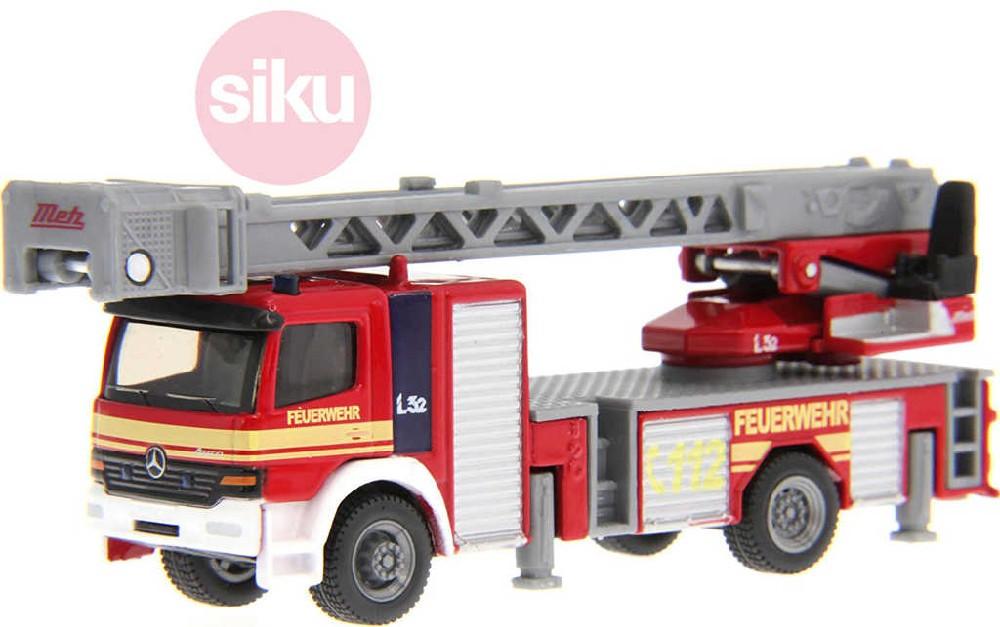 SIKU Auto hasiči s otočným vysouvacím žebříkem model 1:87 kov