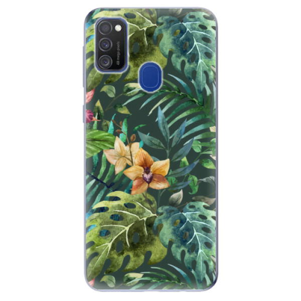 Odolné silikonové pouzdro iSaprio - Tropical Green 02 - Samsung Galaxy M21