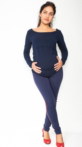 Be MaaMaa Těhotenské kalhoty s lampasem