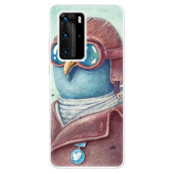 Odolné silikonové pouzdro iSaprio - Pilot twitter - Huawei P40 Pro