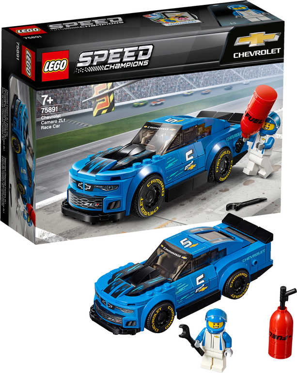 LEGO SPEED CHAMPIONS Chevrolet Camaro ZL1 Race Car 75891 STAVEBNICE
